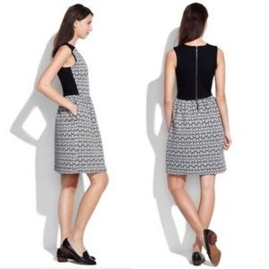 MADEWELL Diamond Jacquard Dress Black/White